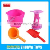 Zhorya children outdoor promotional summer set plastic 4 pcs pink sand beach toys for kid