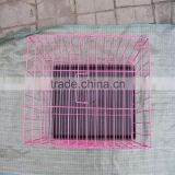 Low carbon steel wire galvanized chinese animal bird cage for live canary birds/metal pet cage