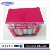 2016 fashionable best seller education supplies 15pcs square sidewalk school chalk with color box