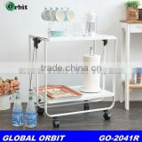 Best sell restaurant Folding Kitchen metal dining Serving trolley cart