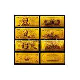 America Gold Engrave Banknote , Value Collection golden dollar bill
