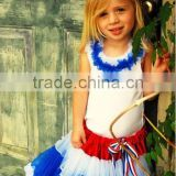 Fast shipping july 4th girls outfits pettiskirt wholesale children's boutique clothing classical ballet tutu chiffon skrit