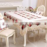 2017 hot super soft and smooth tablecloth,European lint fabric with rose and lace,wholesale upholstery fabric tablecloth