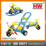 Funny Plastic Tricycle Children stroller tricycle sliding baby carriage