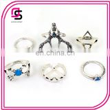 SHINY RHODIUM hot selling fashion jewelry deer animal shape girls ring set