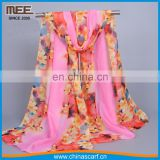 Wholesale legant pink shivering multicolored 100 percent silk Cheap scarf women