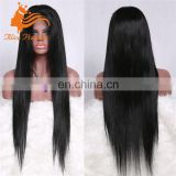 Silk Straight Natural Unprocessed Remy Human Hair Jewish Lace Wig With Baby Hair