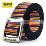 2015 High Quality Manufacturers NeW Design Men Canvas Stripe Belt