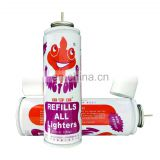 the safety of custom butane refill  and butane Lighter gas made in china