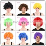Hot sell cheap crazy short rainbow color mega afro wigs