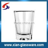 Promotional wholesale high quality clear thick bottom glass water cup/drinking glass/glass cup set for home