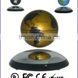 magnetic floating globe for perfect gift & present,levitating floating gold&black globe