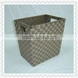 woven rattan plastic book baskets with handles