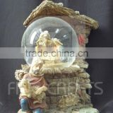 Polyresin Christmas religious nativity figurine snow globes ornaments