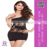 New arrival wholesale sexy clubwear Black lace one-shoulder skirt for women