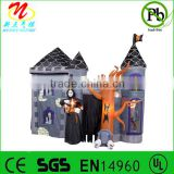 Giant Halloween inflatable haunted house castle with skeleton, ghost, skull and spooky tree
