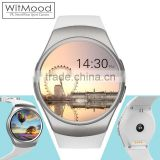 WITMOOD New smart watch phone KW18 MTK2502C 1.3 inch round screen IPS LCD 240X240 Bluetooth 4.0 Anti-lost alert Remote camera                                                                                                         Supplier's Choice