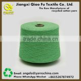 Cheap price OE recycled knitted fabric 60% cotton 40% polyesterr ne0.5s to 32s for making gloves/towel/socks
