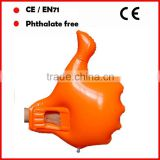 red color phthalate free pvc inflatable hand/inflatable fingers/promotional inflatable hand