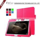 "2016 Premium PU Leather Flip case for Huawei MediaPad M2 A01W 10.1""case"