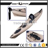 Non inflatable cheap canoe kayak accessories aluminum rudder with pedal apply to boat Made in China