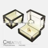 Elegant Wood Acrylic Jewellery Packaging Box with glass pvc for Display