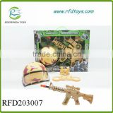 Gun toy with infrared military set b/o eight sound gun