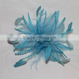 Blue feather flower for decorations