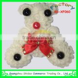 White bear bead decoration for cloth decoration lace flower