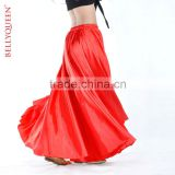 red satin belly dance skirt,belly dance clothing,belly dancewear