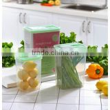 promotion plastic PP 3pcs 1200ML 2400ML 4200ML rectangular vacuum sealing food vegeteble container storage with lid set