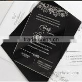 Laser cut custom elegant acrylic wedding invitations with envelop                                                                         Quality Choice                                                     Most Popular