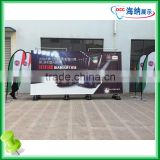 A shape windproof outdoor banner, advertising banner with large basement