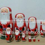 Ningbo Chuang Christmas Decoration Wooden Nesting Doll (Russian Doll)