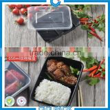 Disposable 2 COMPARTMENTS Rectangular disposable meal prep plastic food tray