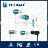 stereo heavy bass high quality metal earphone with microphone original for apple for iphone 5