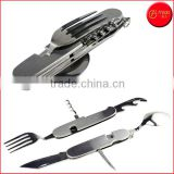 7-IN-1 Multi-Functional Camping Tool Camping Cutlery 4-Inch Camping Stainless Steel Detachable Knife