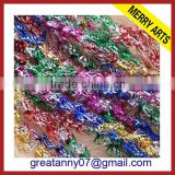 Curly tinsel garland,Christmas decorations, made of flame-retardant PVC or optional recyclable PET