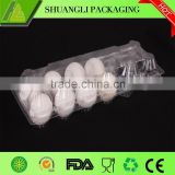 Clamshell clear transparent plastic bulk egg cartons
