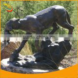 Bronze Lion Sculpture Life-size Animal Sculpture Bronze Animal Sculpture Bronze Mountain Lion with Baby Cub Sculpture