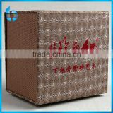 Three - layer paper structure packaging box with fabric lining for elegant ceramic products