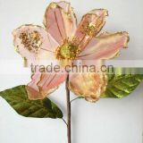 "2014 New Style Artificial Flowers Christmas Flowers 27"" Single Magnolia"