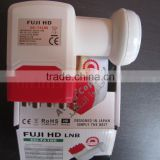 Stocks for best quality Fuji HD universal ku band Single LNB , Fuji hd ku band Twin lnb, FUJI hd ku band Quad LNB