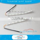 Sequential led turn signal strip light, DC12V-24V input led headlights, white yellow flexible crystal tear drops