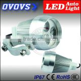 Electric 12v 15w motorcycle flashing/strong light led headlight with c-ree chip for motor bike
