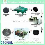 New Full Automatic Used Tire Recycling Machine / Low Consumption Rubber Powder Grinding Machine