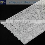 2015Hot sale 100% Cotton embroidery leaf guipure lace trimming african lace fabric for Clothes and curtains
