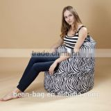 Hot Sale Stripe High Back Bean Bag Sofa Chair