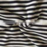 brushed striped jersey knit fabric