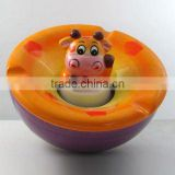 3D Hand-Painted Ceramic Wave Shap Giraffe Ashtray